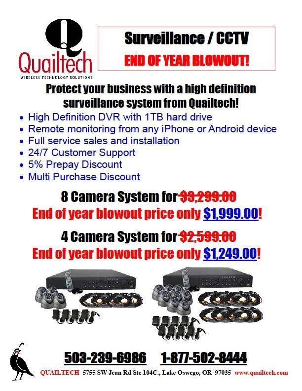 CCTV System 4 Camera 8 Camera DVR 1TB HDD Remote Monitoring Sale Surveillance Cameras